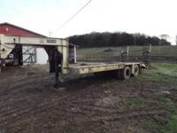 1986 gooseneck trailer phelan 20 ton with hydraulic