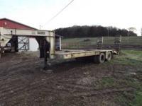1986 gooseneck trailer phelan 20 ton with hydraulic