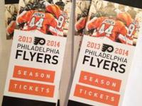 PHILADELPHIA FLYERS TICKETS   SECTION 116 ROW 22 SEAT