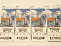 I have 4 Phillies tickets from a rain out back on April