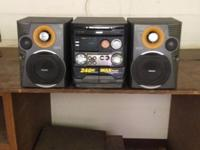 AM/ FM/ MP3/ Cassette/ CD Player Unit and two