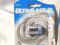 Ultralast UL CR-2-1 Size CR2 3-volt Photo Lithium