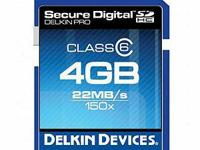 Delkin Pro SDHC (Secure Digital High Capacity) cards
