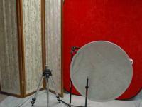 Several pieces of studio equipment. Folding
