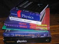 For sale is this assortment lot of 8 physics books.