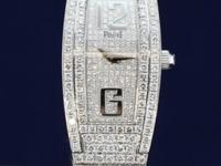Piaget Limelight Tonneau, Quartz battery, 18K white