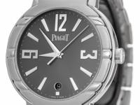Piaget Polo 18K White Gold Watch 38mm Gray Dial with