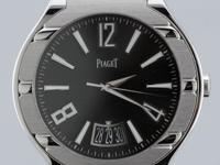 Piaget Polo Date, Automatic, 18K White Gold, 43mm Men's