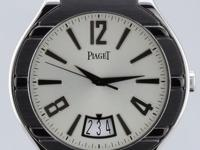 Piaget Polo Date, Automatic, 18K White Gold & Black