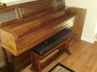 Piano, excellent condition. Has self-player. $1000.00