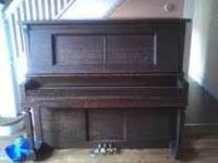 Older piano in working condition. Needs to be tuned and
