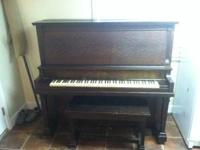 1915 George P Bent upright piano. Its a Concord model.