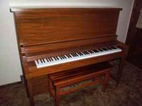 Schumann piano and bench, good condition, all keys and
