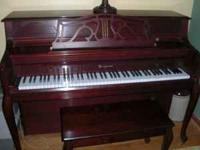 Piano, Bergman, 2004, Studio with bench, Model AF108,