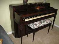 Very nice upright piano in wonderful condition. Must