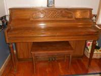 Piano for sale. Will need to be tuned. Great for a