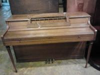 Wurlitzer Piano Excellent shape wt bench to match.