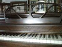Piano and bench. Betsy Ross Spinet by Lester Company of