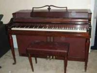 Piano is good shape, need a little tuning, MUST GO !!