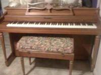 $600.00 OBO  Howard Miller Piano Great condition