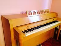 The piano was made in 1951-1956: Acrosonic spinet by