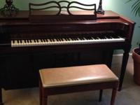 Baldwin (Acrosonic) spinet piano (SN 408542) mfg in