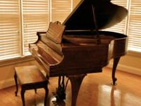 "1949 Baldwin Hamilton walnut 5' 1"" grand piano."