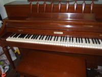 Baldwin Acrosonic Spinet Piano Built in 1968 Veneered