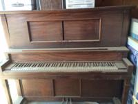 Early Straube upright piano, excellent condition, all
