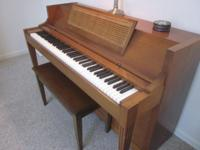 Baldwin Acrosonic Upright Piano; 88 keys; matching