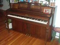 Wurlitzer Piano good condition. Tuned every year. 56""