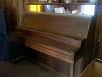 Upright piano (with bench, if wanted) - originally
