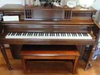 Top of the line Piano, excellent condition, will also