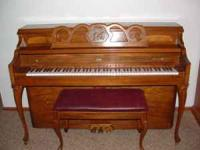 Conn console piano, 2nd owner, aprox age built in 1987.