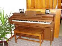 Cable brand piano with bench needs a little tuning,