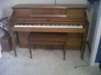 Piano for sale $400 obo. Piano is in good condition.