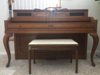 Nice piano, needs to be tune. Only serious offers. Cash