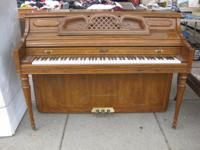 PIANO, KIMBALL, ARTIST CONSOLE,upright, great