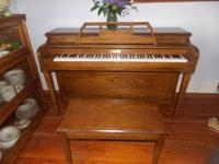 Beautiful sounding spinet. My son has just purchased a