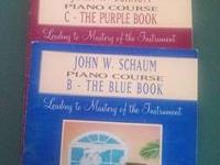 Used piano lesson books and sheet music for sale.