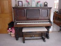 Antique 'Parlor Grand' Piano made by Ernst Gabler &