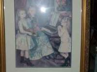 Beautiful print, ladies at the piano 25 x 30. I do not