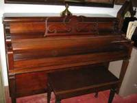 "Piano is a ""Sohmer & Co., New York 43"" console. I paid"
