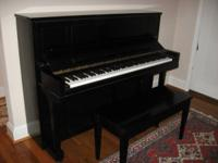 Steinway Upright, Ebony Satin, Made in New York