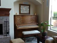 Uprght piano built circa 1800. Recently tuned with