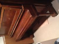 Upright piano from yesteryear needs refurbishing.