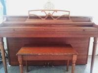 W.P. Haines & Co. spinet piano, circa 1965 (serial