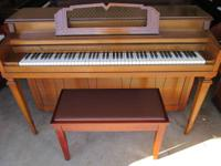WINTER SPINET UPRIGHT in a gorgeous Walnut finish.