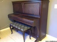 PIANO, early 1900's vintage upright antique piano.