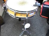 "FOR SALE A PICCOLO 14"" SNARE DRUM WITH PACIFIC STAND"